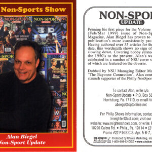 #22 Alan Biegel Non-Sport Update