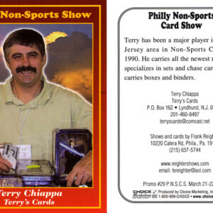 #29 Terry Chiappa Terrys Cards