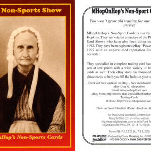 #38 MHopOnHop's Non-Sports Cards