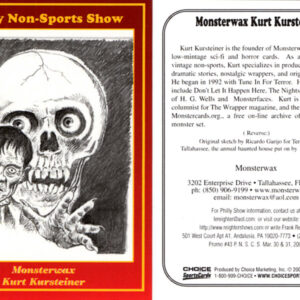 #43 Kurt Kursteinter Monsterwax