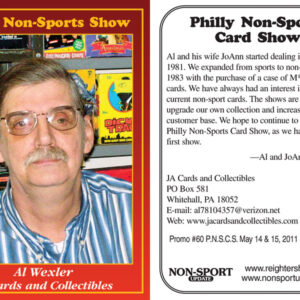#60 Al Wexler JA Cards and Collectibles