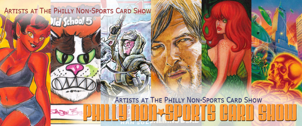 Artists at the Philly Non-Sports Card Show
