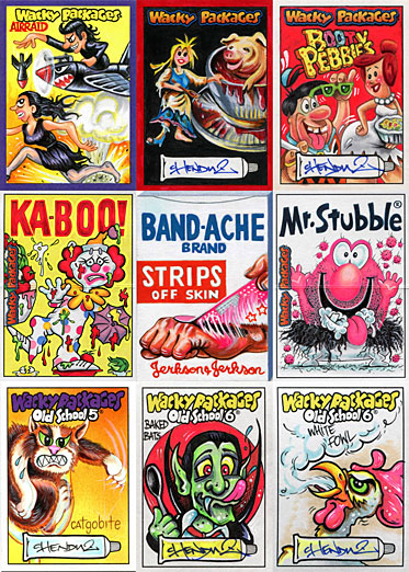 Wacky Packages sketch cards by Chenduz