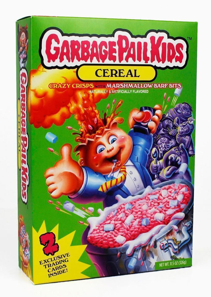 Garbage Pail Kids cereal box by Joe Simko